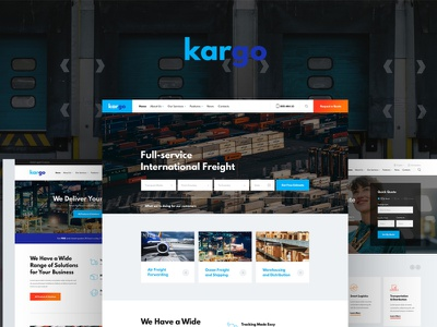 Kargo | Logistics & Transportation PSD Template webdesign woocommerce web development web design wordpress themes wordpress wordpress theme