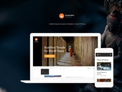 Samadhi | Oriental Buddhist Temple WordPress Theme webdesign web development web design wordpress themes wordpress wordpress theme