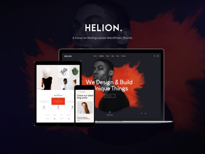 Helion | Personal Creative Portfolio WordPress Theme + Store woocommerce webdesign web development web design wordpress themes wordpress wordpress theme