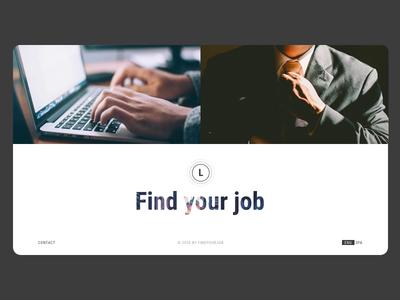 main 3 job online app motion interaction inspiration web design minimal ux animation ui