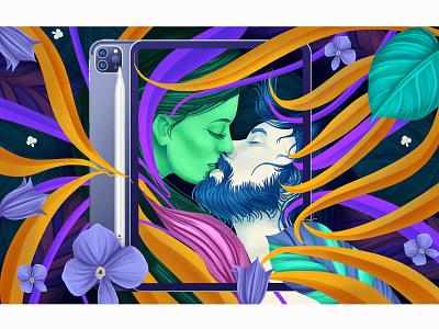 Illustration nature art digitalpainting digitalart wacom intuos ipadpro love illustrator illustraion design