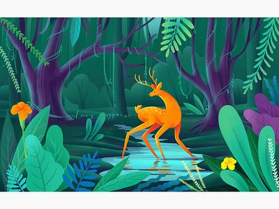 Nature illustration photoshop wacom intuos nature art digitalpaiting digitalart illustration illustrator