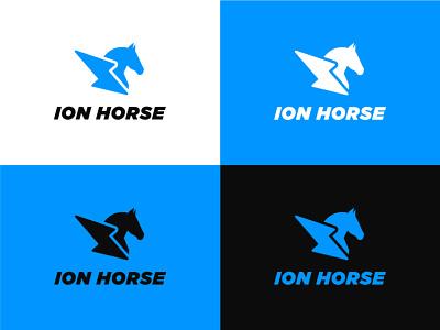 KU ION-HORSE AUTOMOTIVE branding logo graphic design design
