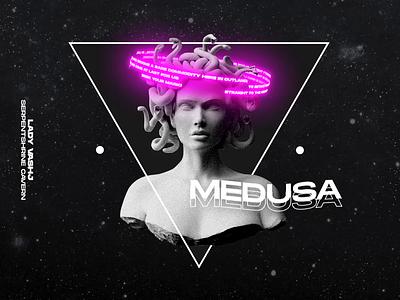Medusa / Lady Vashj sculpture medusa poster animation aftereffects motion graphics