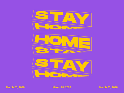 Stay Home aftereffects kinetic typography motion graphics