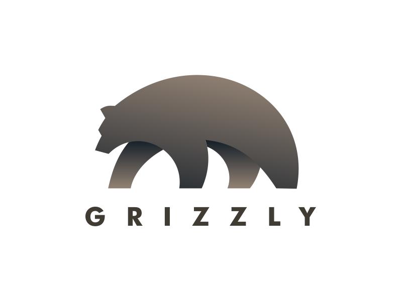Grizzly coreldraw minimalist animal brand art vector design logo