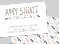 Amy Shutt Biz Cards & Logo