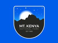 Mt. Kenya National Park Badge