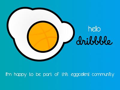 Dribbble Debut dribble hello egg debut