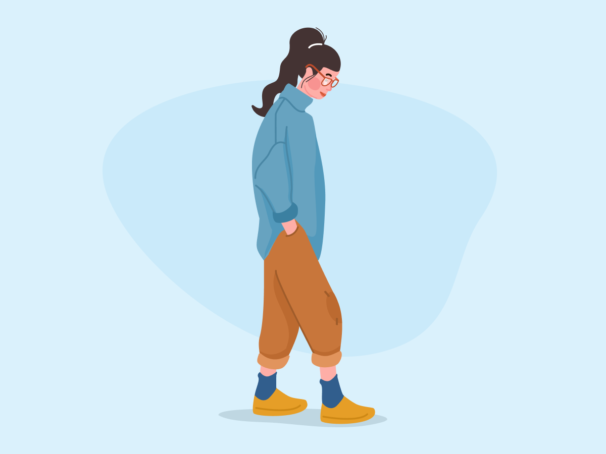 Casual Look womans woman illustration character illustration vector blog product illustration flat style guide design character design blue character character concept girl illustration fashion illustration people girl