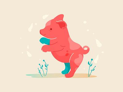 Piggy figma gradient animals illustrated animals animal illustration pink piggy pig design illustration design vector illustration flat illustration illustrator vector illustration flat