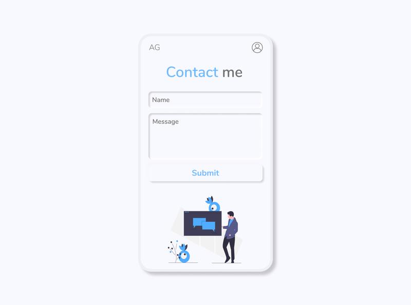 contact form mobile web ux ui minimal design