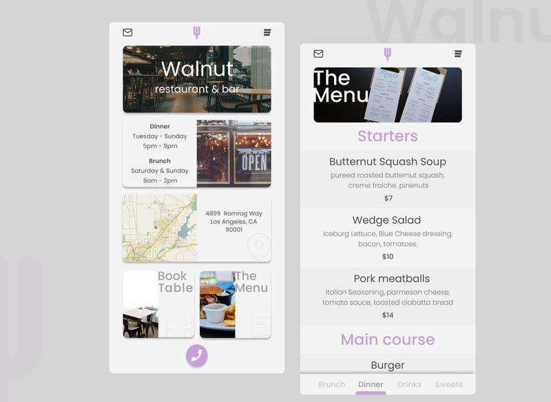 walnut flat minimal logo design branding ux ui mobile