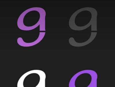 ag logo typography flat branding figma design minimal logo