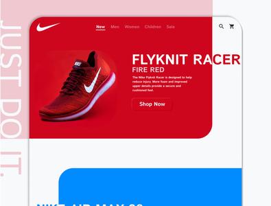 Simple nike landing page - final website web flat branding figma design ux ui minimal