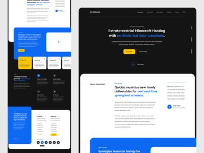 SpaceMine Website Design (Alt Version) design web design ux design modern inspiration dark colorful ui design mockup branding