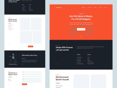 wesley.design Web Design Mockup ux design branding simple minimalist modern inspiration colorful web design ui design mockup