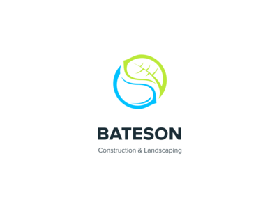 Bateson Logo Design mockup branding ui design web design nature construction logo design logotype logomark modern inspiration colorful design logo