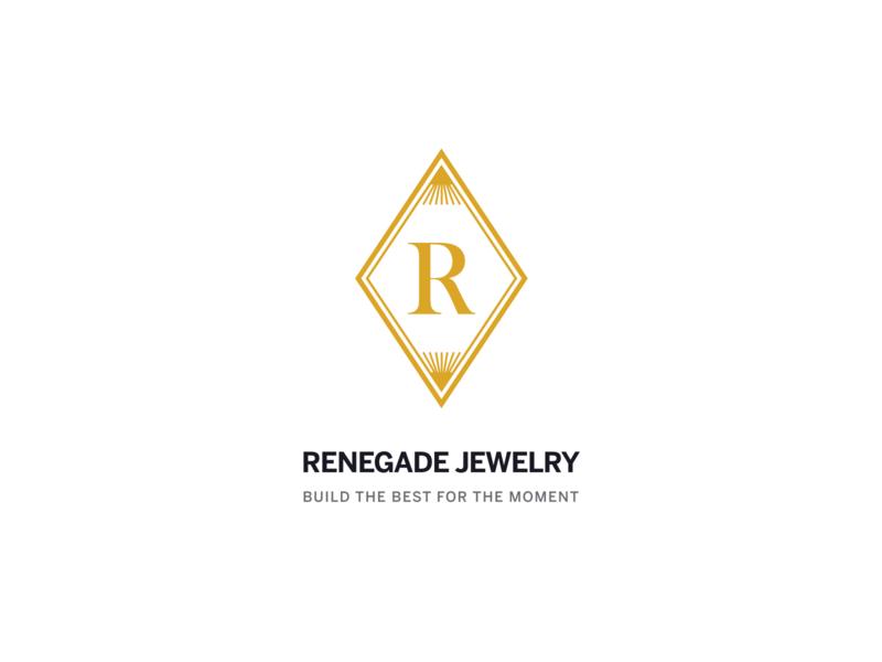 Renegade Jewelry Logo ui design typography modern mockup logotype logomark logo design logo inspiration illustration hosting dark dailyui creative control panel gold elegant jewelry colorful branding