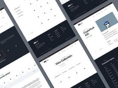 NFT Site Custom Template Design illustration dark design ui design web design colorful modern mockup inspiration