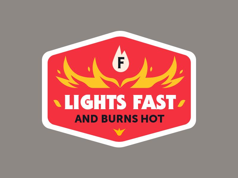 Badge charcoal burn fire logo badge sticker vector icon flat