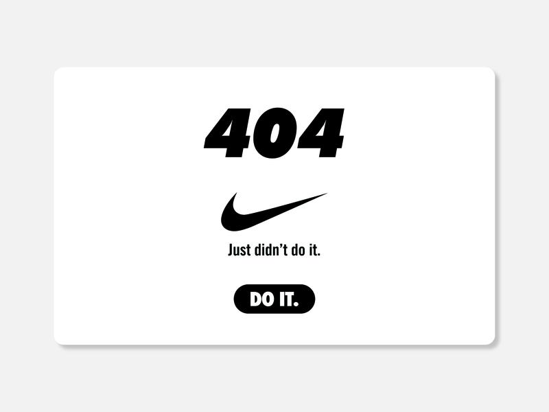 404 Nike Page