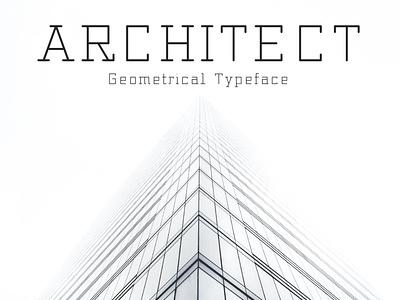 Architect – Geometrical Typeface playful fun slab video games handmade outline modern digital computer tall light thin geometric