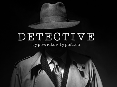 Detective – Typewriter Typeface scrapbook serif secret mystery classic legible slab thin elegant mechanical 1960s 1950s typeface typewriter detective