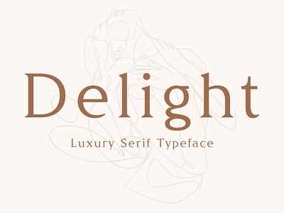 Delight - Luxury Serif Typeface feminine romantic fancy natural beauty spa chic floral headline magazine luxurious premium serif font serif timeless stylish fashion classy luxury typeface