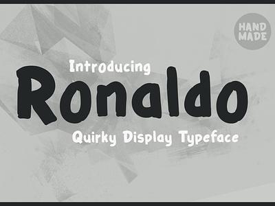 Ronaldo - Quirky & Playful Typeface poster baby bold flyer modern simple comic kid weird children kids playful handmade typeface display quirky ronaldo