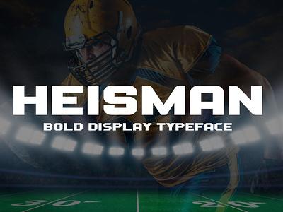 Heisman - Sports Display Typeface typeface display manly bold varsity college baseball hockey basketball football