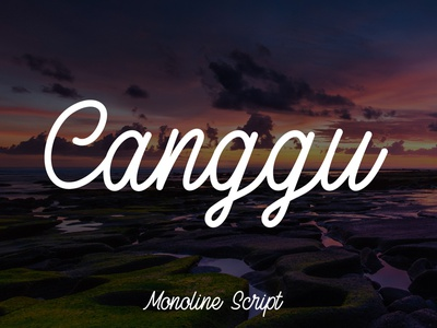 Canggu - Monoline Script Typeface 1950s 1940s cursive smooth clean script typeface monoline indonesia bali canggu