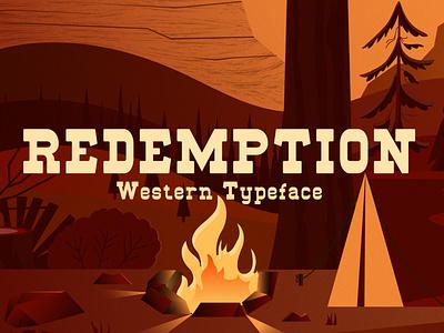 Redemption – Wild West Typeface typeface premium serif slab retro vintage tavern cowboy wild west camping western