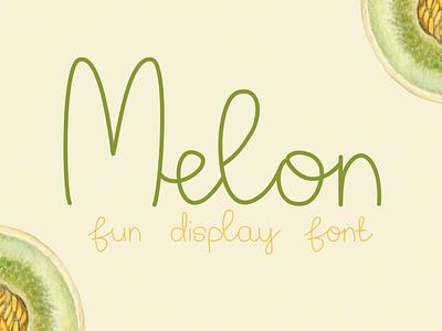 Melon – Fun Display Font monoline vector digital logo funky handmade handdrawn display typeface display chic cute kids playful quirky fun