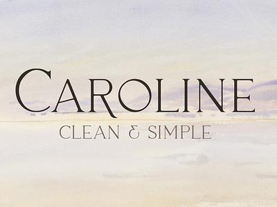 Caroline – Minimal Modern Typeface wedding luxury