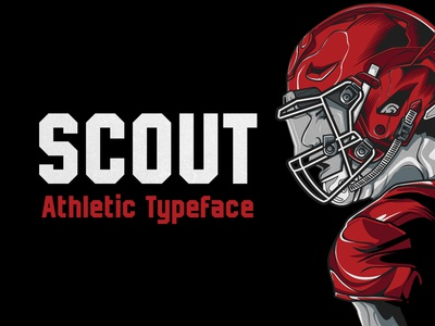 Scout - Athletic Typeface minimal clean sharp bold branding scout colleges football baseball varsity college sports athletic