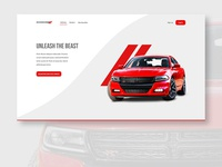 Dodge Charger test drive registration page concept