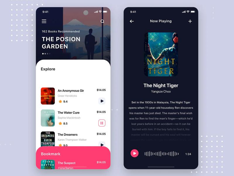Audio Book Mobile App design typography ux ui app ui  ux design uiux design ui ux ux design ui design