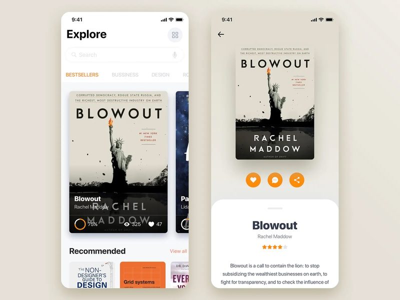 Book Store Mobile App Concept mobile ui mobile design typography design app ui ux app design mobile app design ui  ux design ux design ui design