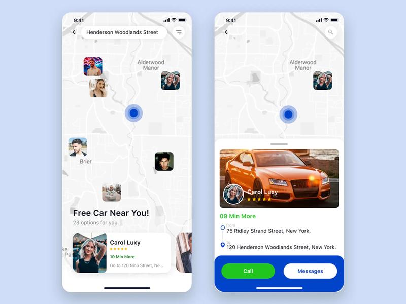 Free Car Booking App mobile UI car rental app car booking app mobile ui design mobile ui mobile design mobile app design app design design app uiux design ui  ux design ui ux ux design ui design