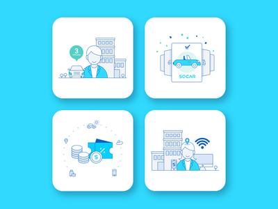 Illustration for Car sharing service