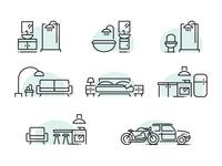 Rooms Icon Set