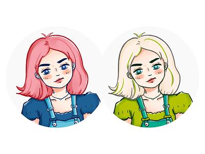 avatar girl avatar illustration