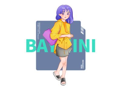 MISS 1 comic cartoon girl character character design character girl design illustration
