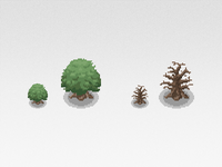 Pixel Art Tree Sprites