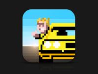 Retro Car Game Icon