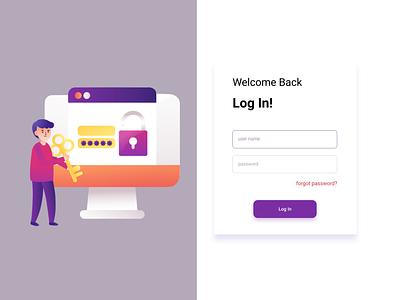 login page website web design