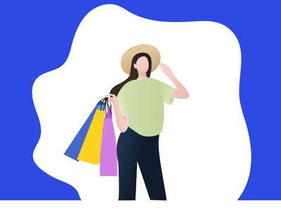 shopping flat branding vector illustration design
