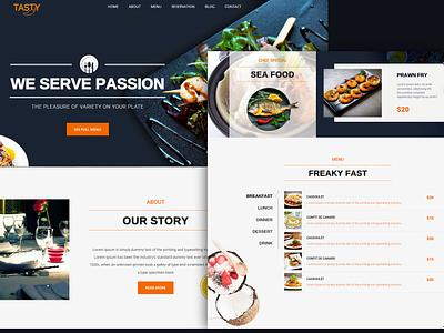 Web Restaurant web design