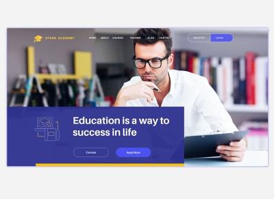 Education web layout web design